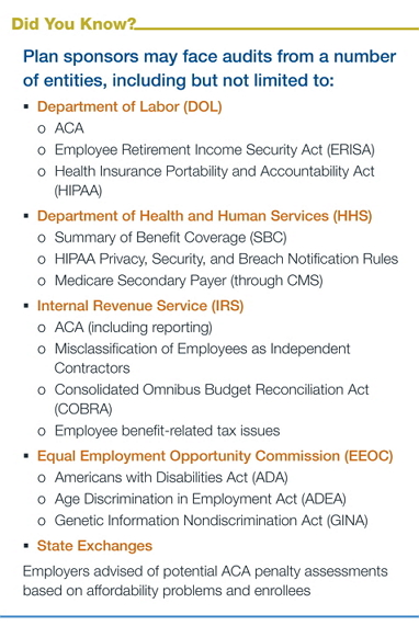 PPACA face audits from a number of entities
